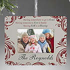 Personalized Christmas Blessings Frame Ornament