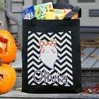 Personalized Chevron Trick or Treat Tote Bag