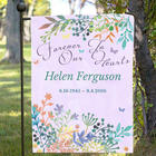 Personalized Forever In Our Hearts Memorial Garden Flag