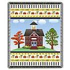 Golden School Days Tapestry Throw