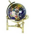 Lapis Brass Arc Stand 5 Inch Gemstone Globe
