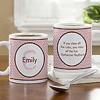 Polka Dot Personalized Coffee Mug