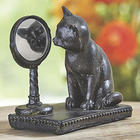 Curious Cat Resin Statue