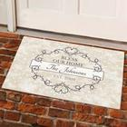 Personalized Name and Date Bless Our Home Doormat
