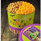 2 Gallons of Popcorn in Custom Photo Happy Halloween Tin