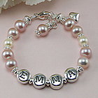 Emma Freshwater Cultured Pearl Personalized Birthstone Bracelet
