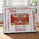 Personalized Cheerleading Photo Frame