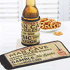 Personalized Man Cave Rules Can and Bottle Wrap