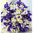 Purple and White Iris Bouquet