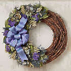 "Preserved Blue Jewel Luna 18"" Wreath"