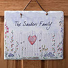 Home Sweet Home Personalized Slate Plaque