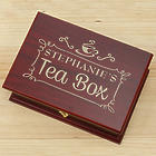 Engraved Rosewood Tea Box