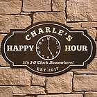 5 O'Clock Somewhere Custom Bar Sign