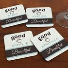 Good Day Personalized Wooden Coasters