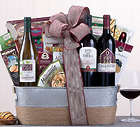 Wine and Gourmet Snack Assortment Gift Basket