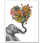 The Happy Elephant Art Print