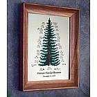 Christmas Birthstone Family Tree Frame