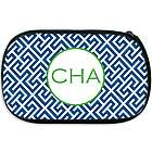 Monogrammed Puzzle Design Cosmetic Bag