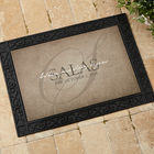 The Heart of Our Home Recycled Rubber Back Personalized Doormat