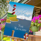 Personalized Lighthouse Coast Garden Flag