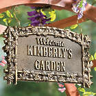 Personalized Antique Copper Hanging Garden Sign