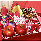 Very Special Valentine Fruit and Sweets Box