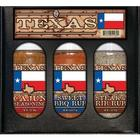 Texas Flag Boxed 3 Grill Rubs Boxed Set
