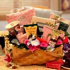 Gift Basket for Her in Wood Hamper