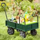 Garden Cart with Built-In Seat