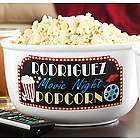Personalized Movie Night Popcorn Bowl