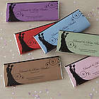 Silhouette Wedding Favor Personalized Candy Bar Wrappers