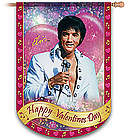 Elvis Happy Valentine's Day Indoor Outdoor Flag