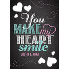 You Make My Heart Smile Personalized Cutout Greeting Card