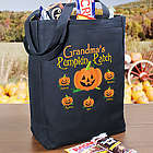 Pumpkin Patch Personalized Halloween Tote Bag