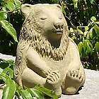 Cast Stone Meditating Bear