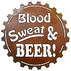 Blood, Sweat and Beer Metal Wall Sign