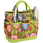 Floral Pattern Garden Tote and Tools Set
