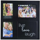 Live, Laugh, Love 3-Opening Collage Picture Frame in Black