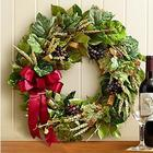 Preserved Vineyard Wine Cork Wreath