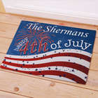 Personalized 4th of July Welcome Doormat