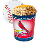 3 Gallons of Popcorn in St. Louis Cardinals Tin