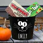 Halloween Black Cat Candy Bucket