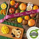 Organic Fresh and Dried Fruit with Thank You Ribbon
