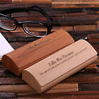 Personalized Engraved Wood Laminated Eyeglass Case