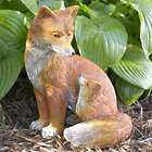 Fox and Baby Garden Sculpture