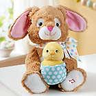 Animated Bunny Stuffed Animal and Chocolate Eggs