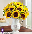 Pitcher Full of Sunflowers Bouquet