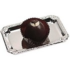Chocolate Heart Truffle with Silver Tray