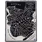 Brooklyn Map Throw Blanket