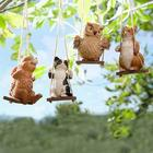 Baby Animals on Swings Garden Accents